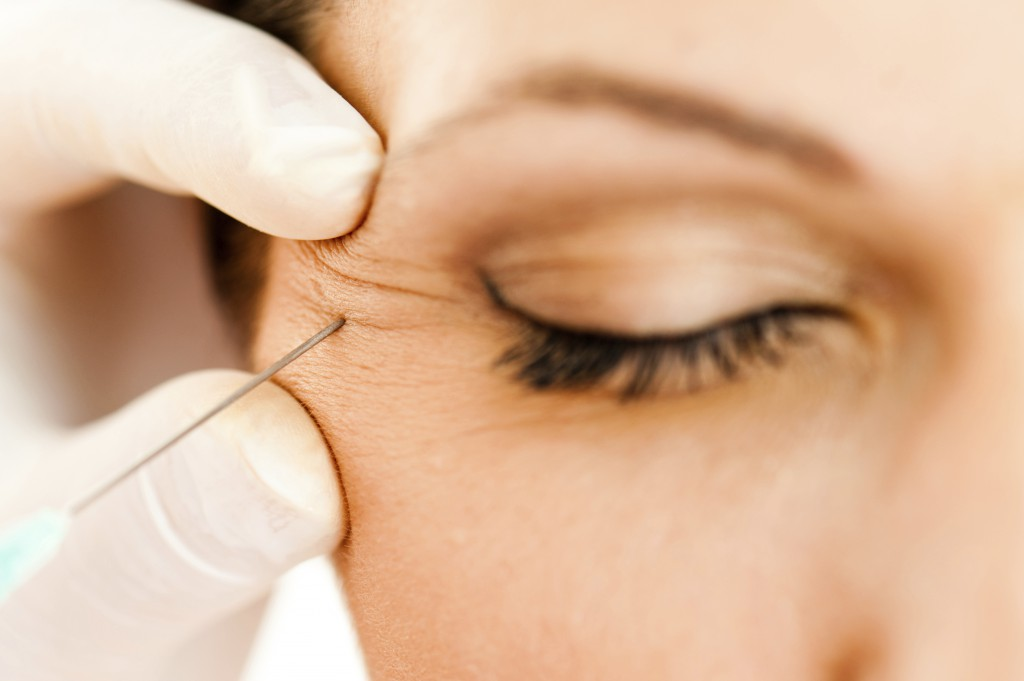 Anti-wrinkle injection at a skin clinic near Geelong